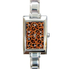 Skin5 Black Marble & Copper Foil Rectangle Italian Charm Watch by trendistuff