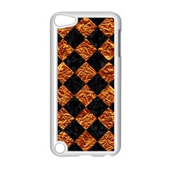 Square2 Black Marble & Copper Foilsquare2 Black Marble & Copper Foil Apple Ipod Touch 5 Case (white) by trendistuff
