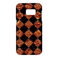 Square2 Black Marble & Copper Foilsquare2 Black Marble & Copper Foil Samsung Galaxy S7 Hardshell Case