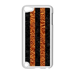Stripes1 Black Marble & Copper Foil Apple Ipod Touch 5 Case (white) by trendistuff