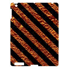 Stripes3 Black Marble & Copper Foil (r) Apple Ipad 3/4 Hardshell Case by trendistuff
