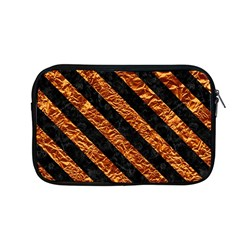 Stripes3 Black Marble & Copper Foil (r) Apple Macbook Pro 13  Zipper Case by trendistuff