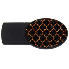 Tile1 Black Marble & Copper Foil Usb Flash Drive Oval (2 Gb) by trendistuff
