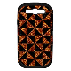 Triangle1 Black Marble & Copper Foil Samsung Galaxy S Iii Hardshell Case (pc+silicone) by trendistuff