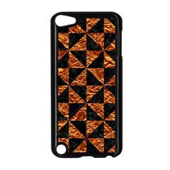Triangle1 Black Marble & Copper Foil Apple Ipod Touch 5 Case (black) by trendistuff