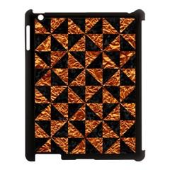 Triangle1 Black Marble & Copper Foil Apple Ipad 3/4 Case (black) by trendistuff