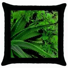 Vivid Tropical Design Throw Pillow Case (black) by dflcprints