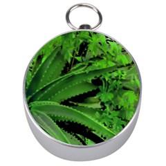 Vivid Tropical Design Silver Compasses by dflcprints