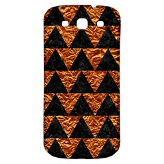 Triangle2 Black Marble & Copper Foil Samsung Galaxy S3 S Iii Classic Hardshell Back Case by trendistuff
