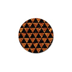 Triangle3 Black Marble & Copper Foil Golf Ball Marker by trendistuff