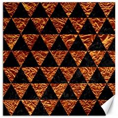 Triangle3 Black Marble & Copper Foil Canvas 12  X 12   by trendistuff