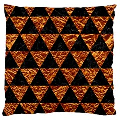 Triangle3 Black Marble & Copper Foil Large Cushion Case (two Sides) by trendistuff