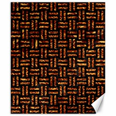 Woven1 Black Marble & Copper Foil Canvas 20  X 24   by trendistuff