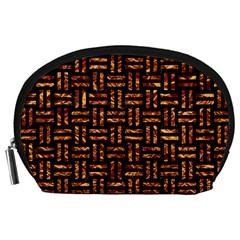 Woven1 Black Marble & Copper Foil Accessory Pouches (large)  by trendistuff