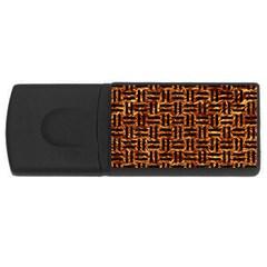 Woven1 Black Marble & Copper Foil (r) Rectangular Usb Flash Drive by trendistuff