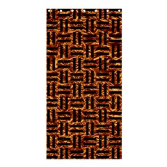 Woven1 Black Marble & Copper Foil (r) Shower Curtain 36  X 72  (stall)  by trendistuff