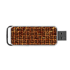 Woven1 Black Marble & Copper Foil (r) Portable Usb Flash (two Sides) by trendistuff
