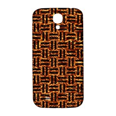 Woven1 Black Marble & Copper Foil (r) Samsung Galaxy S4 I9500/i9505  Hardshell Back Case by trendistuff
