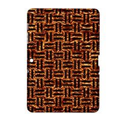 Woven1 Black Marble & Copper Foil (r) Samsung Galaxy Tab 2 (10 1 ) P5100 Hardshell Case  by trendistuff