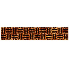 Woven1 Black Marble & Copper Foil (r) Flano Scarf (large) by trendistuff