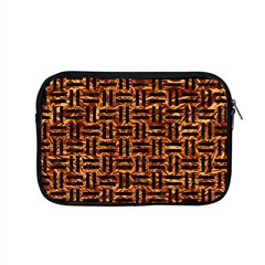 Woven1 Black Marble & Copper Foil (r) Apple Macbook Pro 15  Zipper Case by trendistuff
