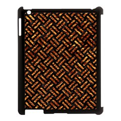 Woven2 Black Marble & Copper Foil Apple Ipad 3/4 Case (black) by trendistuff