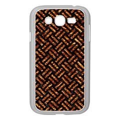 Woven2 Black Marble & Copper Foil Samsung Galaxy Grand Duos I9082 Case (white) by trendistuff