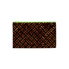 Woven2 Black Marble & Copper Foil Cosmetic Bag (xs) by trendistuff