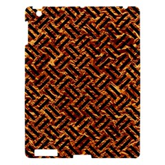 Woven2 Black Marble & Copper Foil (r) Apple Ipad 3/4 Hardshell Case by trendistuff