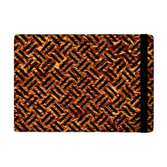 Woven2 Black Marble & Copper Foil (r) Apple Ipad Mini Flip Case