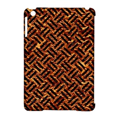 Woven2 Black Marble & Copper Foil (r) Apple Ipad Mini Hardshell Case (compatible With Smart Cover) by trendistuff