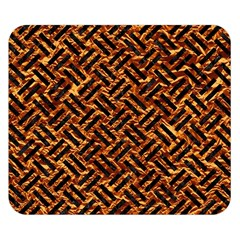 Woven2 Black Marble & Copper Foil (r) Double Sided Flano Blanket (small)  by trendistuff