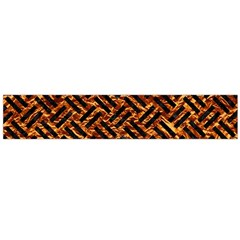 Woven2 Black Marble & Copper Foil (r) Flano Scarf (large) by trendistuff