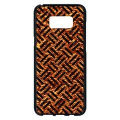 Woven2 Black Marble & Copper Foil (r) Samsung Galaxy S8 Plus Black Seamless Case by trendistuff