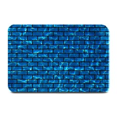 Brick1 Black Marble & Deep Blue Water (r) Plate Mats by trendistuff