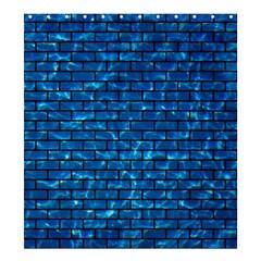 Brick1 Black Marble & Deep Blue Water (r) Shower Curtain 66  X 72  (large)  by trendistuff