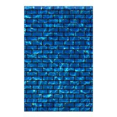 Brick1 Black Marble & Deep Blue Water (r) Shower Curtain 48  X 72  (small)  by trendistuff