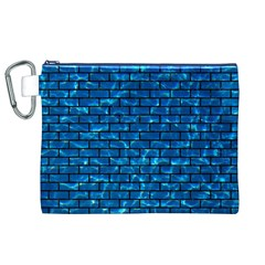 Brick1 Black Marble & Deep Blue Water (r) Canvas Cosmetic Bag (xl) by trendistuff