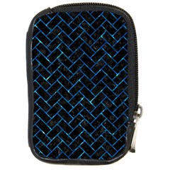 Brick2 Black Marble & Deep Blue Water Compact Camera Cases by trendistuff