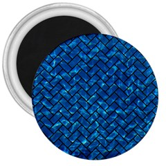 Brick2 Black Marble & Deep Blue Water (r) 3  Magnets by trendistuff