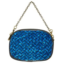 Brick2 Black Marble & Deep Blue Water (r) Chain Purses (one Side)  by trendistuff