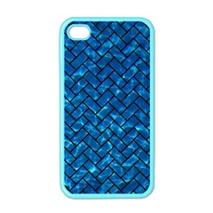 Brick2 Black Marble & Deep Blue Water (r) Apple Iphone 4 Case (color) by trendistuff