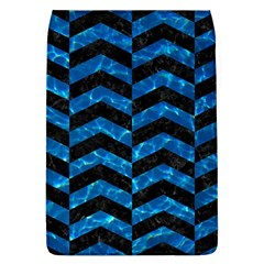 Chevron2 Black Marble & Deep Blue Water Flap Covers (l)  by trendistuff