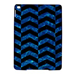 Chevron2 Black Marble & Deep Blue Water Ipad Air 2 Hardshell Cases by trendistuff