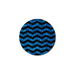Chevron3 Black Marble & Deep Blue Water Golf Ball Marker (10 Pack) by trendistuff