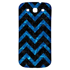 Chevron9 Black Marble & Deep Blue Water Samsung Galaxy S3 S Iii Classic Hardshell Back Case by trendistuff