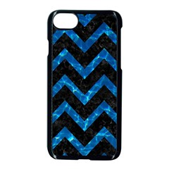 Chevron9 Black Marble & Deep Blue Water Apple Iphone 7 Seamless Case (black)