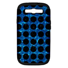 Circles1 Black Marble & Deep Blue Water (r) Samsung Galaxy S Iii Hardshell Case (pc+silicone) by trendistuff