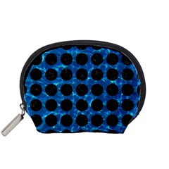Circles1 Black Marble & Deep Blue Water (r) Accessory Pouches (small)  by trendistuff