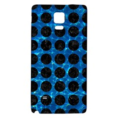 Circles1 Black Marble & Deep Blue Water (r) Galaxy Note 4 Back Case by trendistuff